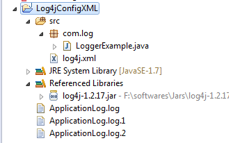 Log4j xml with maxBackupIndex