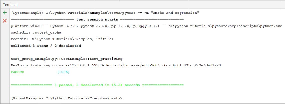 Grouping automation tests using Pytest mark | Selenium Easy