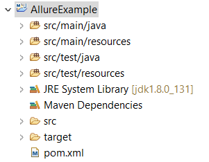 Maven project structure for allure