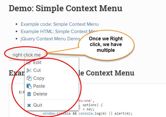 Right Click Context Menu example   Selenium Easy