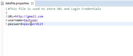 Read data from Properties file using Java Selenium | Selenium Easy