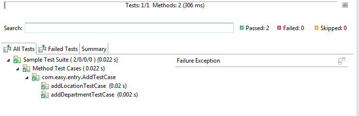 include exclude tests